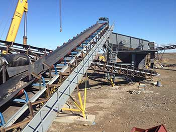 Heavy Duty Inclined Construction And Aggregate Conveyor