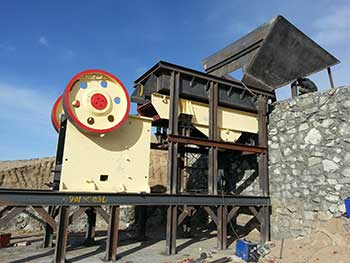 how much does inches jaw crusher produce