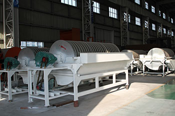 what minium diameter drum size dry magnetic separator