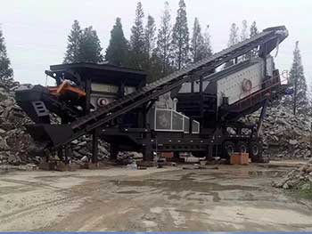Mobile Limestone Crusher Operation